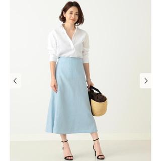 デミルクスビームス(Demi-Luxe BEAMS)のリネンフィット &フレアスカート(ロングスカート)