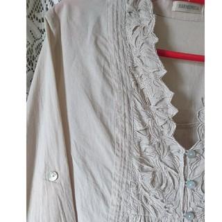HARMONICA ブラウス チュニック ナチュラル 刺繍 (シャツ/ブラウス(長袖/七分))