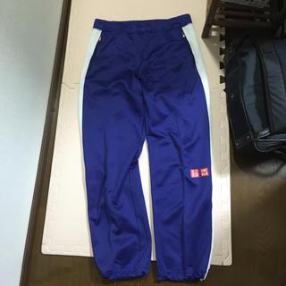 ユニクロ(UNIQLO)のUNIQLO ロゴ ジャージ スウェット パンツ 青紫白 M(ウェア)