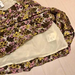 シェル(Cher)のCher スカート 花柄 新品未使用(ミニスカート)