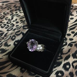 淡いパープル石のsilverリング (リング(指輪))