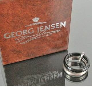 ジョージジェンセン(Georg Jensen)のジョージジェンセン A119 sv925+ブラックオニキス 二連リング(リング(指輪))