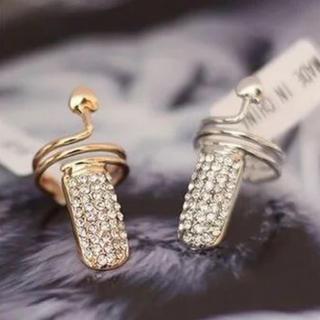新品 キラキラ デザイン ネイルリング 2点セット(リング(指輪))