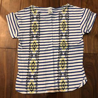 エックスガール(X-girl)のx-girl ボーダー刺繍Tシャツ(Tシャツ(半袖/袖なし))
