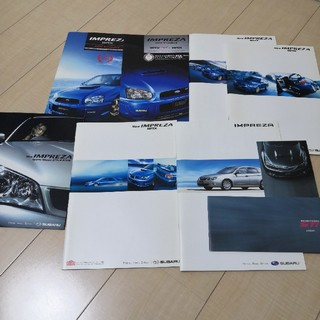 スバル(スバル)のスバル インプレッサ WRX STi カタログ色々セット(カタログ/マニュアル)