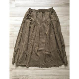 シマムラ(しまむら)のフレア スカート カーキ LL サイズ(ロングスカート)