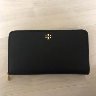 e0820b6552e1 トリーバーチ(Tory Burch)の新品 トリーバーチのシンプルな長財布 エマーソン ブラック 黒