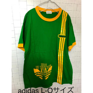 アディダス(adidas)のadidas アディダス トレフォイル  三本ライン Tシャツ L-Oサイズ(Tシャツ/カットソー(半袖/袖なし))