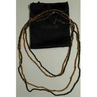 イオッセリアーニ(IOSSELLIANI)のIOSSELLIANI2連ロングネックレス(巾着ケース付き)(ネックレス)