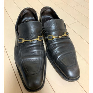 グッチ(Gucci)のGUCCI グッチ ローファー 41 26.5 黒 (ドレス/ビジネス)