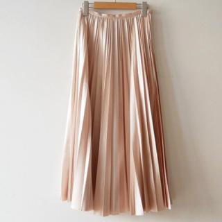ノーブル(Noble)のNOBLE ノーブル 34スピック&スパン レザー調 プリーツ スカート(ロングスカート)