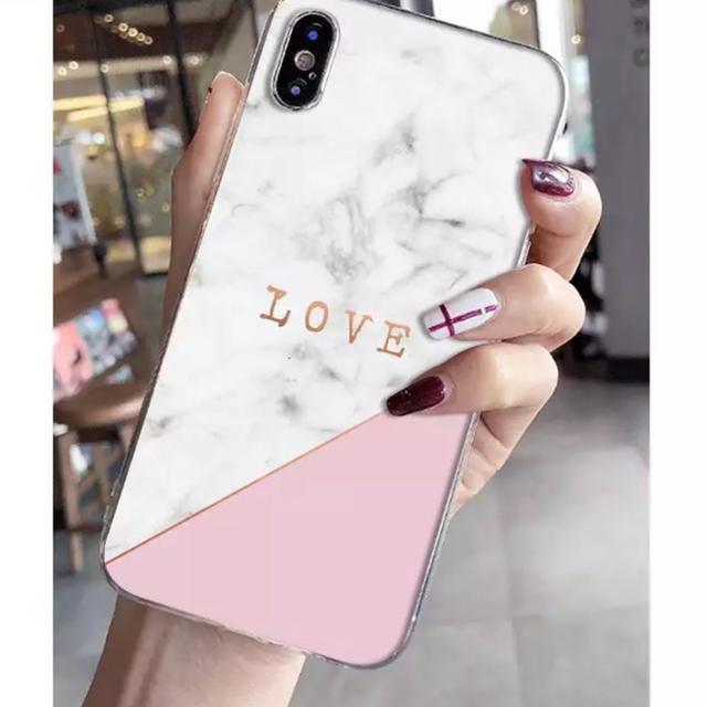 iPhone X.XR.XSケース大理石柄ピンク新品未使用おしゃれカバーの通販 by クローゼット|ラクマ
