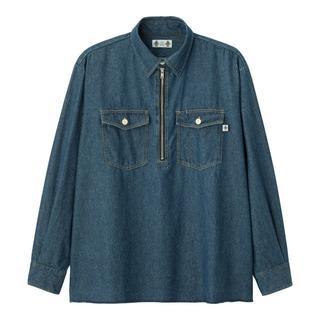 GU - Sサイズ 新品 GU STUDIO SEVEN ハーフジップシャツ デニムシャツ