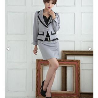 デイジーストア(dazzy store)のAva ベルト付きスリット入り配色胸あて付きテーラードジャケットスーツ(スーツ)