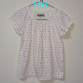 シマムラ(しまむら)の110ハート柄Tシャツ(Tシャツ/カットソー)