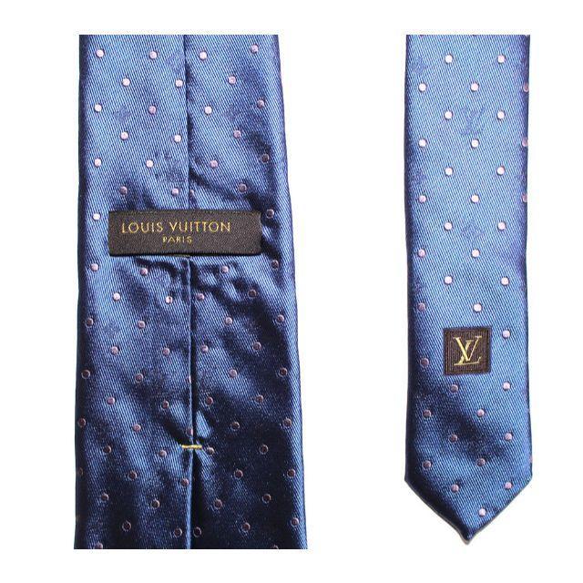 LOUIS VUITTON(ルイヴィトン)の正規品LOUIS VUITTON ルイヴィトン ネクタイ /ネイビー メンズのファッション小物(ネクタイ)の商品写真