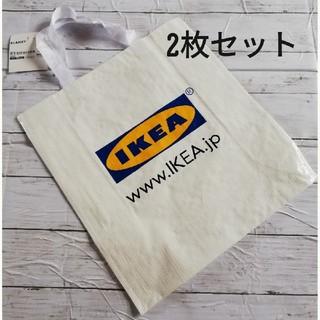 イケア(IKEA)の新品IKEAエコバッグ ホワイト 2枚セット(エコバッグ)