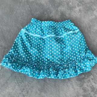 ジーユー(GU)の☆GUキッズ  ドット柄スカート サイズ120センチ(スカート)