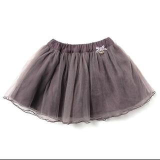 プティマイン(petit main)のpetit main リボンつきチュールスカート(スカート)