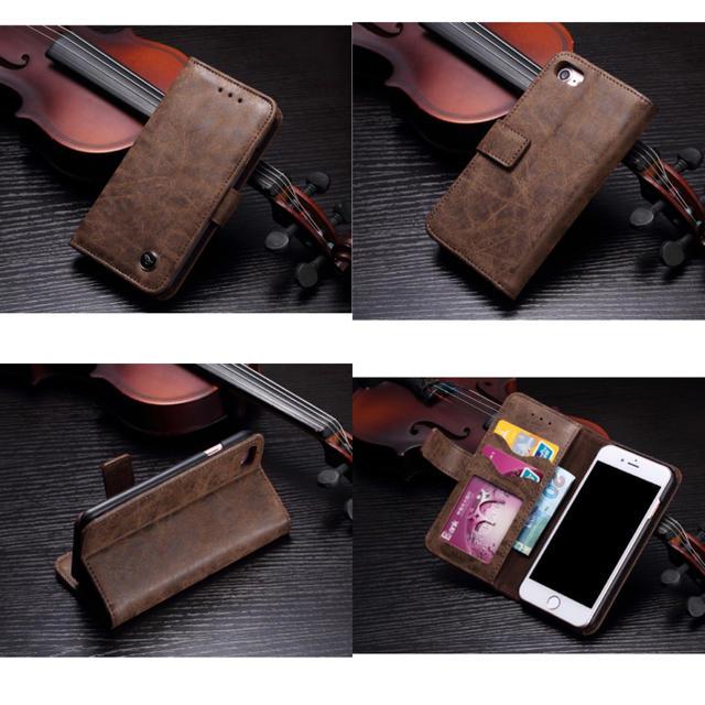 本革《牛皮》USEDユーズド加工☆iPhone7/8.X.XS.XR5機種(^^の通販 by モンキースター's shop|ラクマ