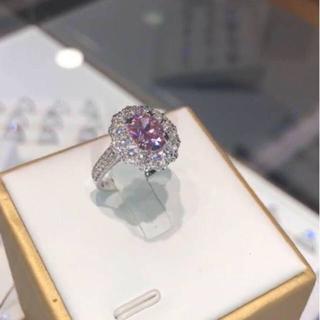 【Sona】可愛いピンク ダイヤリング(リング(指輪))