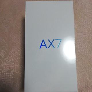 アンドロイド(ANDROID)のOPPO AX7 ゴールド 新品未開封(スマートフォン本体)