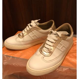 エルメス(Hermes)の2018 エルメス クイックスニーカー 靴 クツ 35 1/2 ピンク(スニーカー)