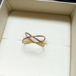 エテ(ete)のete 10kPG ピンキークロスリング(リング(指輪))
