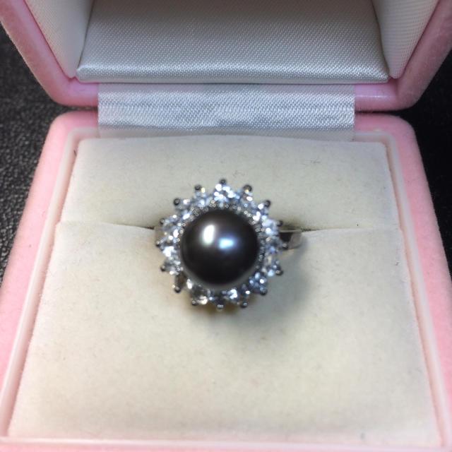 送料無料!新品 pt プラチナ 本物 真珠 リング 指輪 19号  レディースのアクセサリー(リング(指輪))の商品写真
