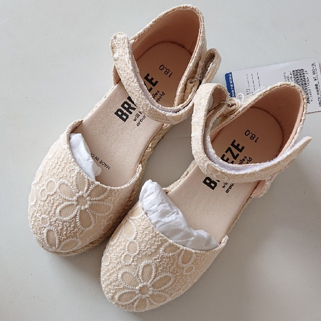 BREEZE(ブリーズ)の◇新品未使用◇BREEZEサンダル18 キッズ/ベビー/マタニティのキッズ靴/シューズ (15cm~)(サンダル)の商品写真