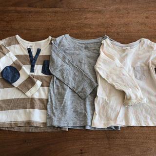 エイチアンドエム(H&M)の子供服 シンプル 90  3枚セット ロンT 長袖 H&M(Tシャツ/カットソー)
