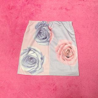 ダチュラ(DaTuRa)の配色バラスカート(ミニスカート)