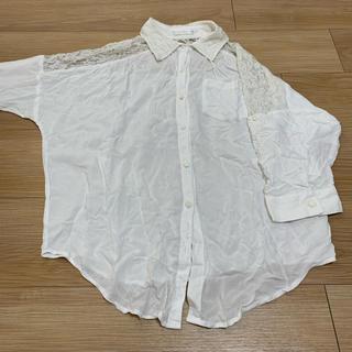シマムラ(しまむら)の白シャツ ブラウス レース(シャツ/ブラウス(長袖/七分))