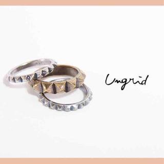 アングリッド(Ungrid)のungridスタッズring(リング(指輪))