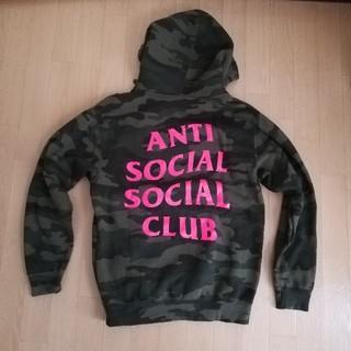 アンチ(ANTI)のANTI SOCIAL SOCIAL CLUB カモフラ S 18AW ASSC(パーカー)
