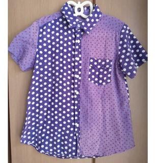 キューブシュガー(CUBE SUGAR)のcube sugarドット柄半袖シャツ(シャツ/ブラウス(半袖/袖なし))