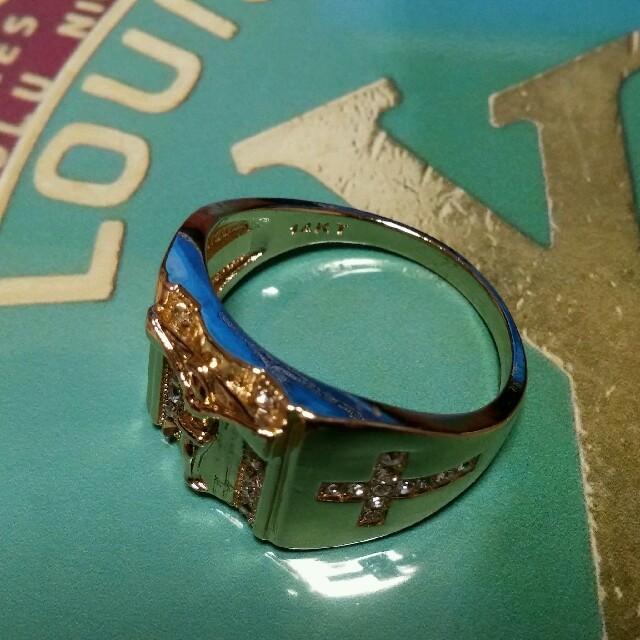 23号 ゴールドカラーリング メンズのアクセサリー(リング(指輪))の商品写真