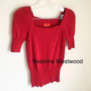 ヴィヴィアンウエストウッド(Vivienne Westwood)のVivienne Westwood 赤い トップス(カットソー(半袖/袖なし))
