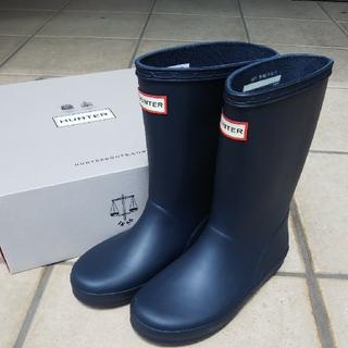 ハンター(HUNTER)の新品 ハンター ネイビー 紺 レインブーツ 長靴 キッズ ハンターレインブーツ(長靴/レインシューズ)