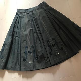 ジェーンマープル(JaneMarple)のジェーンマープル バイオリン刺繍ロングスカート (ロングスカート)