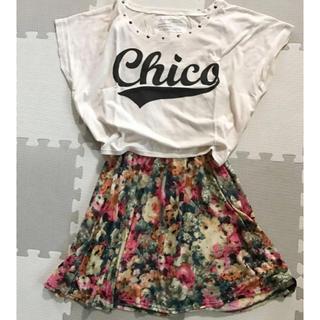 フーズフーチコ(who's who Chico)のwho's who Chico 花柄 ワンピース(ひざ丈ワンピース)