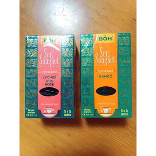 ボー(BOH)のマレーシア ⭐️大人気⭐️BOH紅茶 ライチローズ&マンゴー 2個セット(茶)