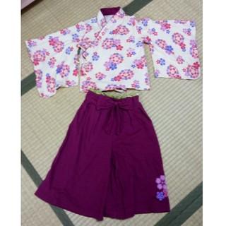 ベルメゾン(ベルメゾン)の【値下げ】袴タイプの着物 100サイズ 女の子(和服/着物)