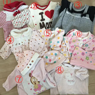 809dc6703eb9e アカチャンホンポ(アカチャンホンポ)の新生児♡女の子 ♡ロンパース ツーウェイオール まとめ売り(カバーオール