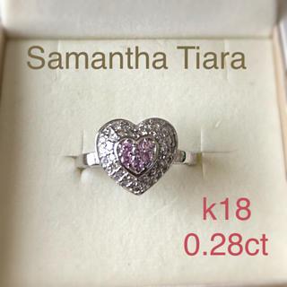 Samantha Tiara - サマンサティアラ   ダイヤ ピンクサファイアリングk18  パヴェリング