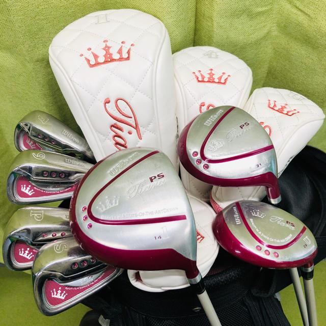 wilson(ウィルソン)の中古★Wilson Golf☆レディース☆ゴルフクラブセット☆ティアラPSモデル スポーツ/アウトドアのゴルフ(クラブ)の商品写真