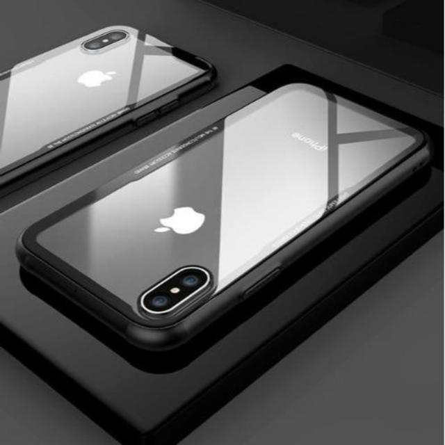 iphone XR シリコン エッジ クリア ハード ケース ブラックの通販 by catchahead shop|ラクマ