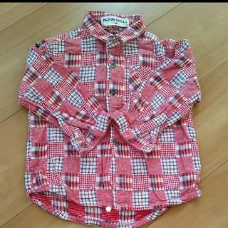 ニシマツヤ(西松屋)の❴美品❵ ELFIN DOLL 赤チェックシャツ(ブラウス)