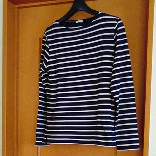 ジーユー(GU)のGUレディース長袖TシャツMサイズ(Tシャツ(長袖/七分))