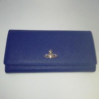 ヴィヴィアンウエストウッド(Vivienne Westwood)のヴィヴィアンウエストウッド 長財布 ブルー ブラック (財布)